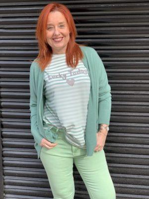 camiseta rayas verdes